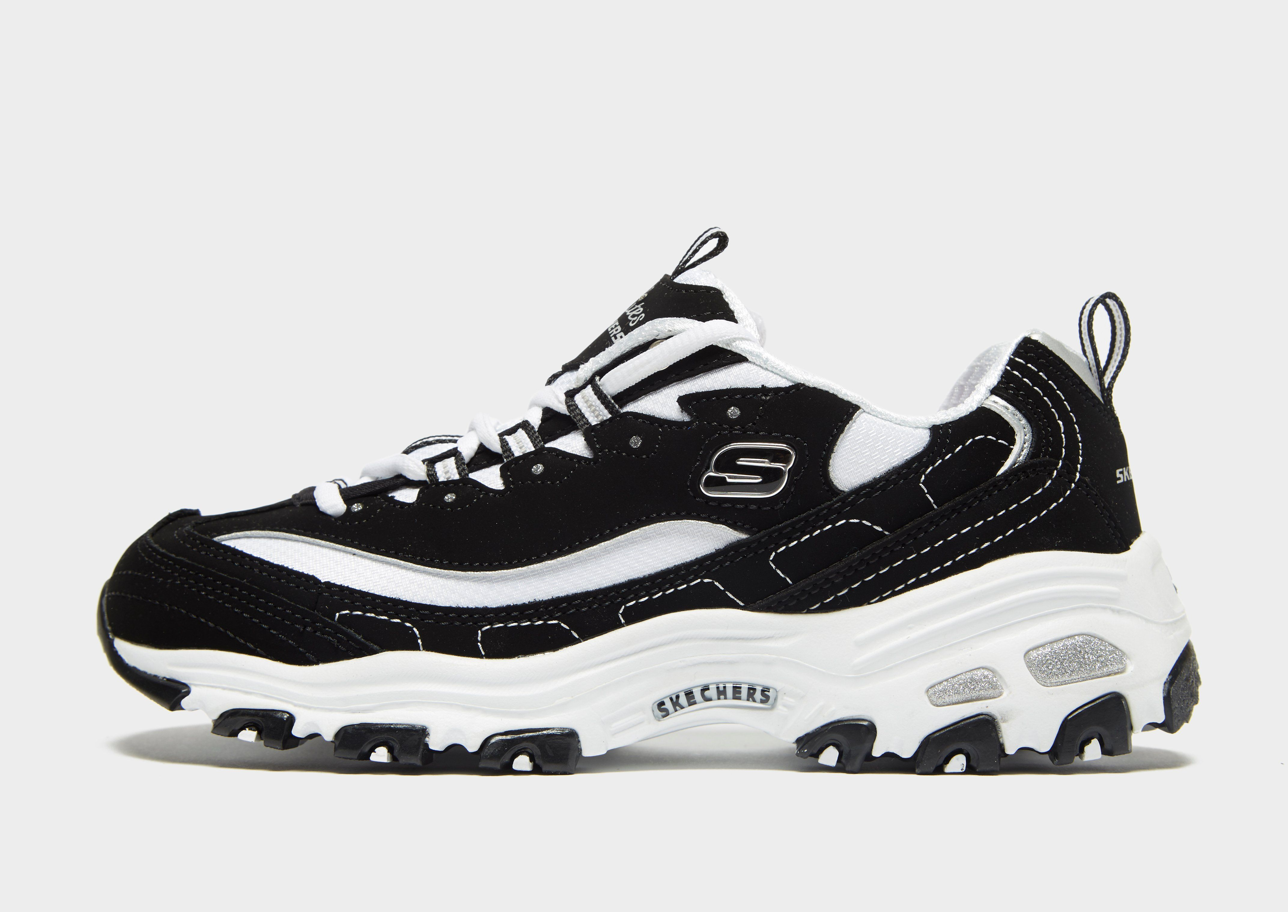Skechers Black Athletic Shoes Skechers D'Lites for Women for