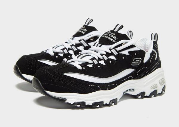 Black Skechers D'lites Biggest Fan D'lites Shoes Grils