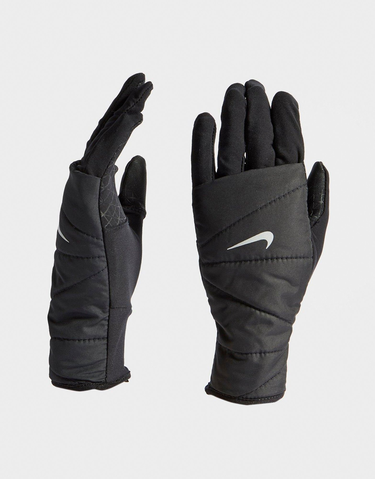 Nike Quilted Running Gloves   JD Sports