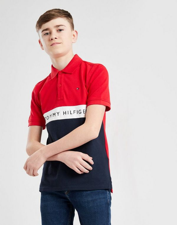 Tommy Hilfiger Colour Block Polo Shirt Junior