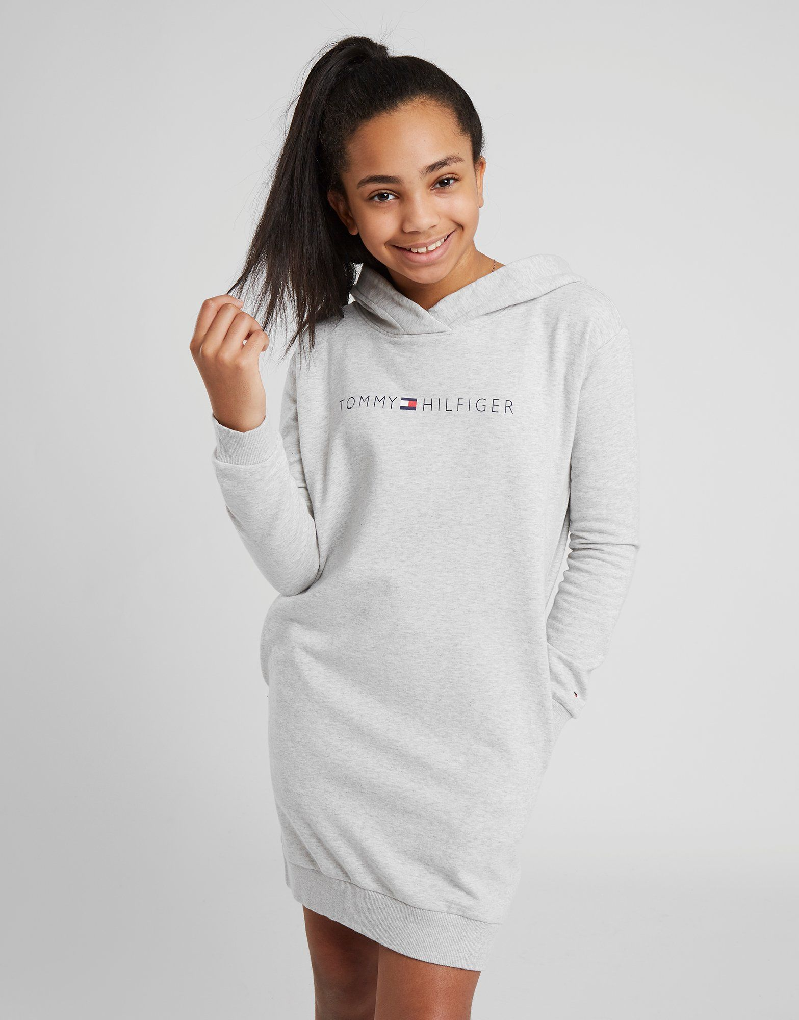 302f7c79f Tommy Hilfiger Girls' Essential Logo Hoodie Dress Junior | JD Sports