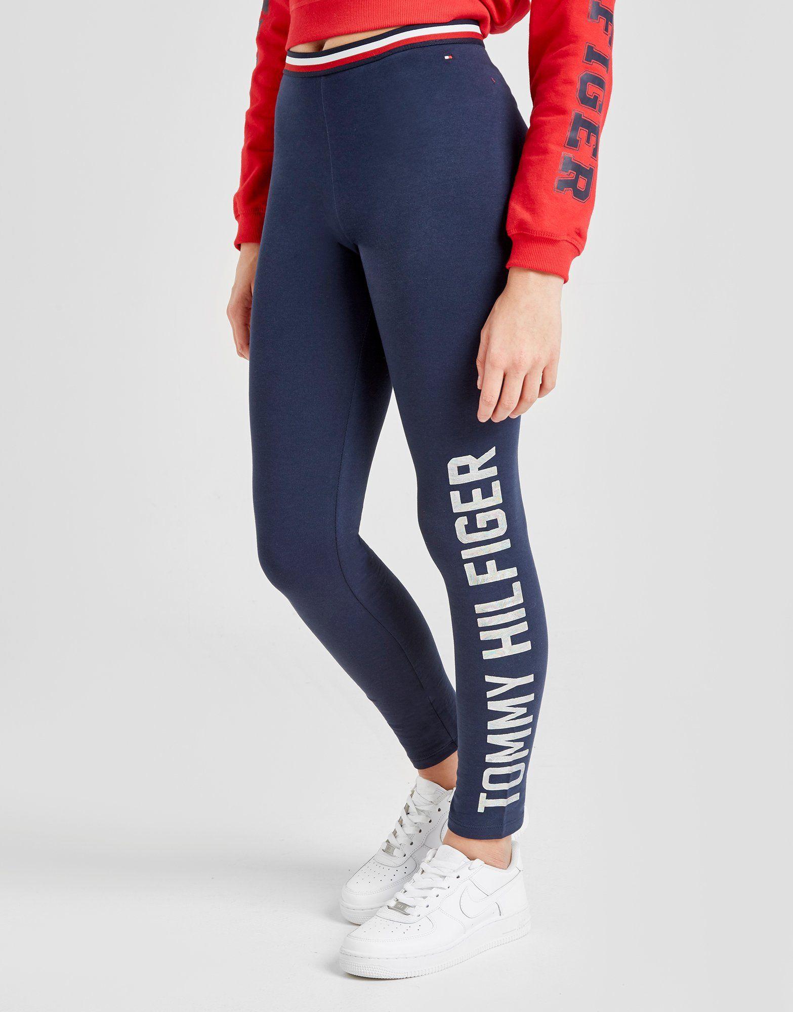 f9e7318a110c1 Tommy Hilfiger Girls' Essential Logo Leggings Junior   JD Sports