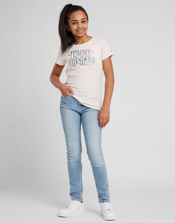 647c008cc Tommy Hilfiger Girls' Foil Logo T-Shirt Junior | JD Sports