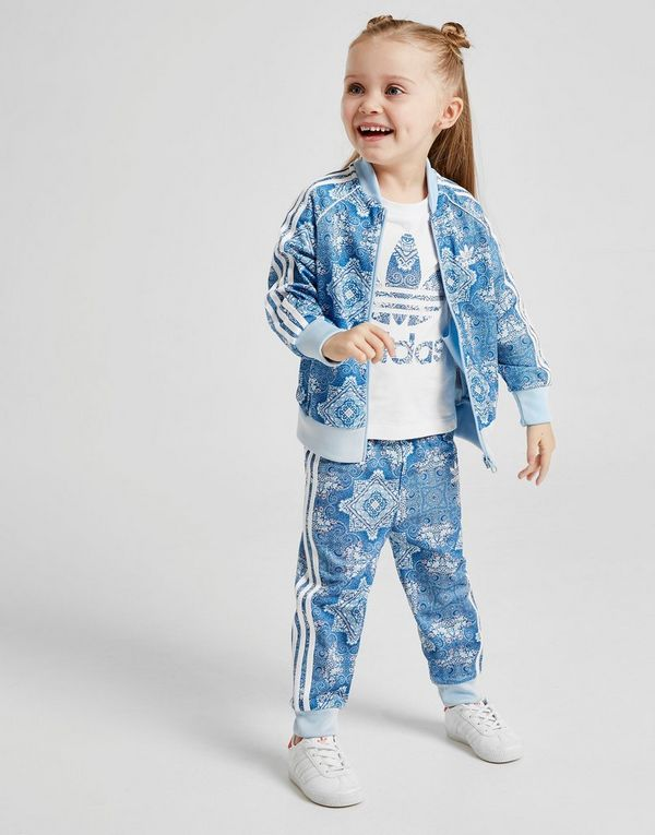 c7ba0890c687 adidas Originals Girls  All Over Print Superstar Tracksuit Infant ...