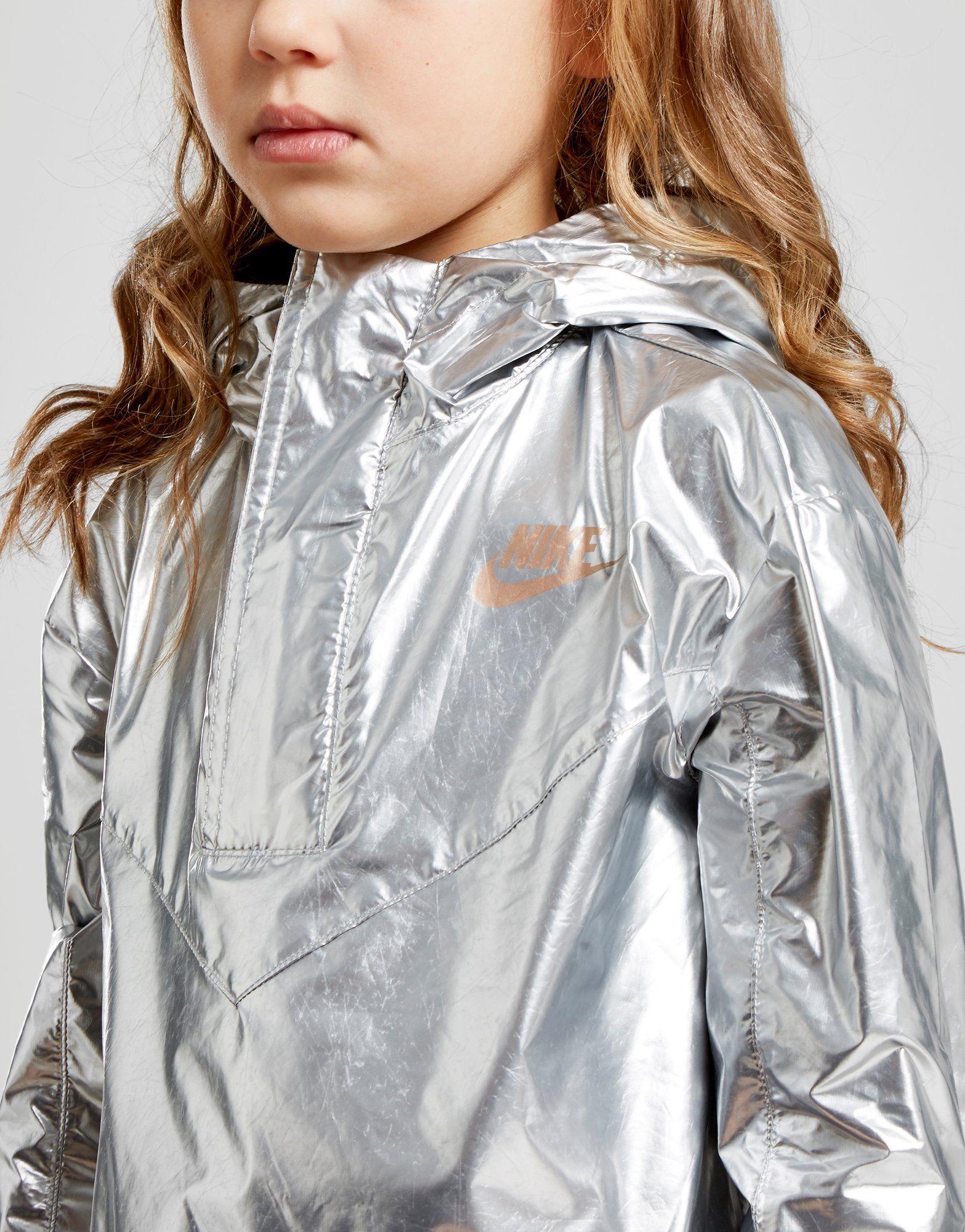 Nike Girls' Shine Metallic Jacket Children