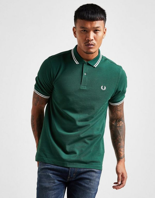 3213b517 Fred Perry Slim Twin Tipped Short Sleeve Polo Shirt | JD Sports