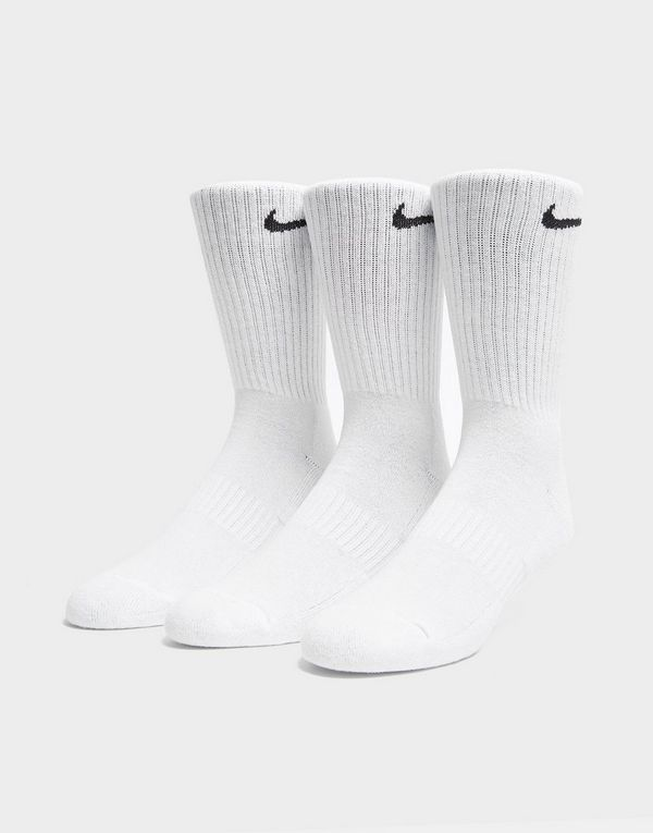 2c2174eda10cc NIKE 3 Pack Everyday Cushioned Crew Socks | JD Sports
