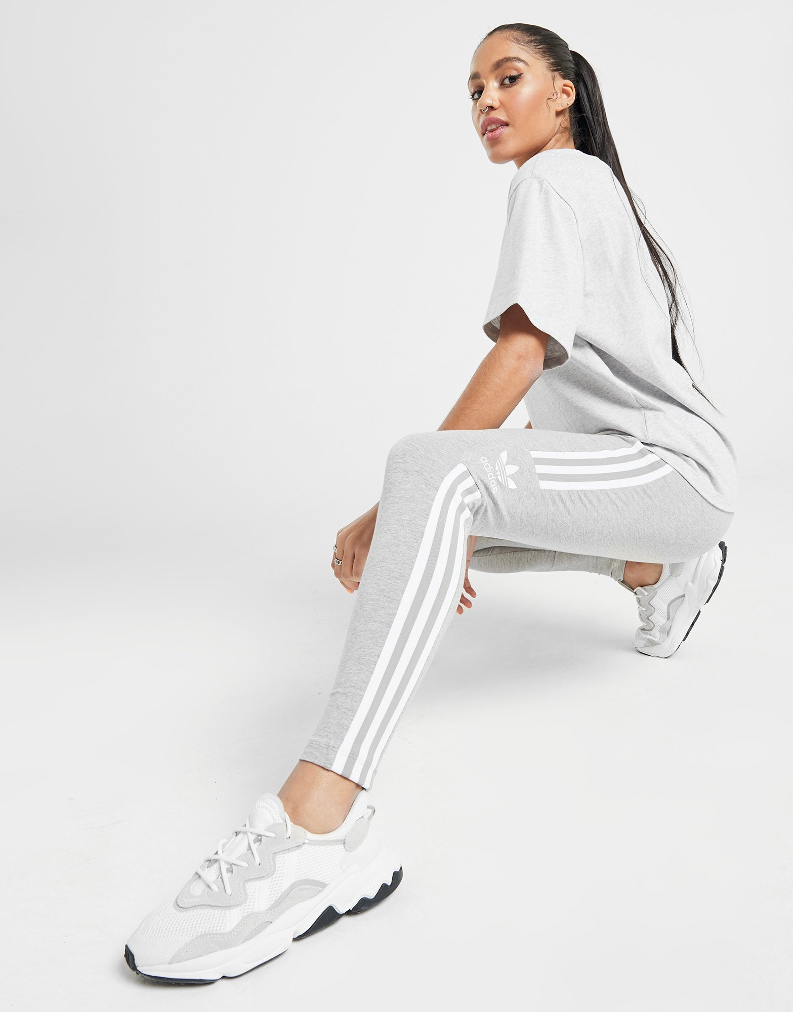 adidas Originals 3 Stripes Trefoil Leggings Dames | JD Sports