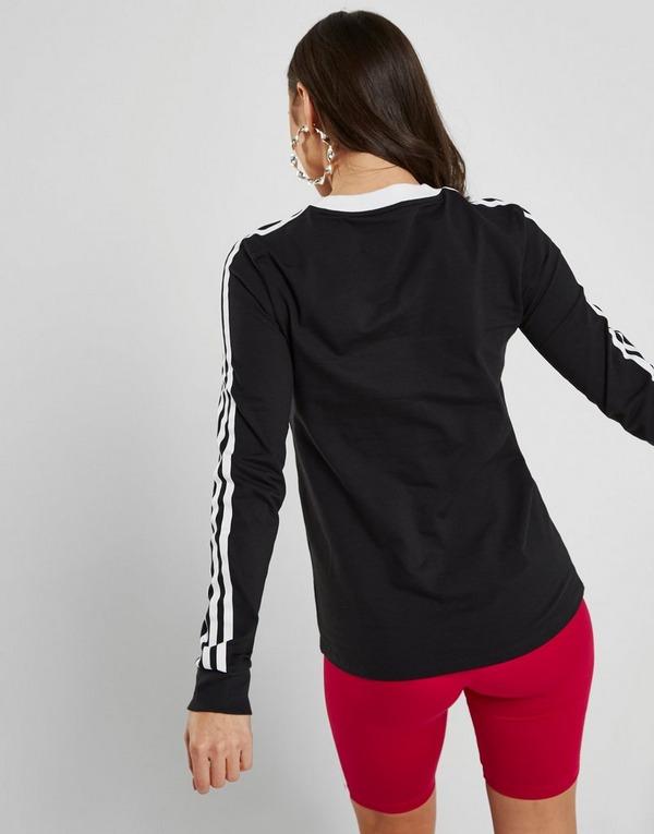 Koop Zwart adidas Originals 3-Stripes Long Sleeve California ...