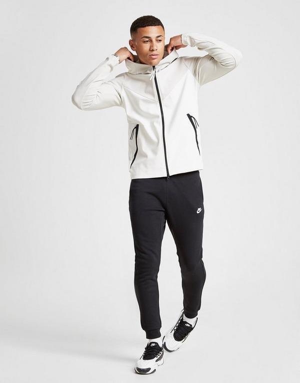 Køb Nike Tech Ponte Full Zip Hoodie Herre i Hvid | JD Sports