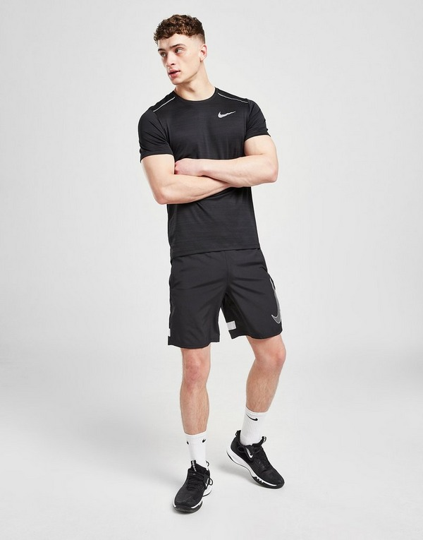 Køb Nike Miler Short Sleeve T Shirt Herre i Sort | JD Sports
