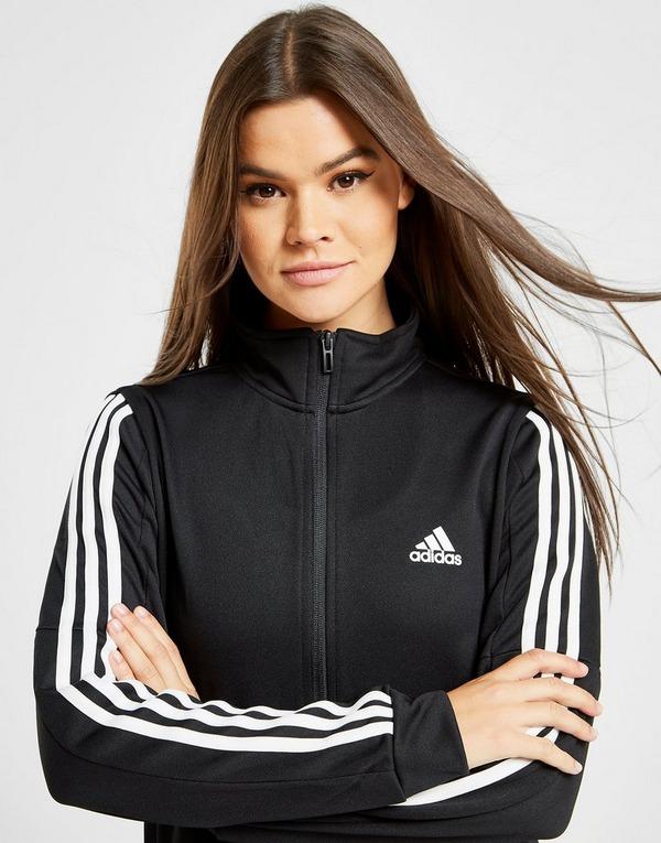 Shop den adidas 3 Stripes Tiro Trainingsanzug Damen in Schwarz