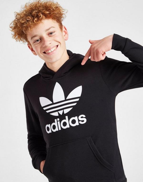 adidas Originals Camisola com capuz Trefoil para Júnior