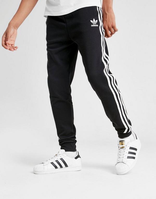 Koop Black adidas Originals 3 Stripes Fleece Trainingsbroek