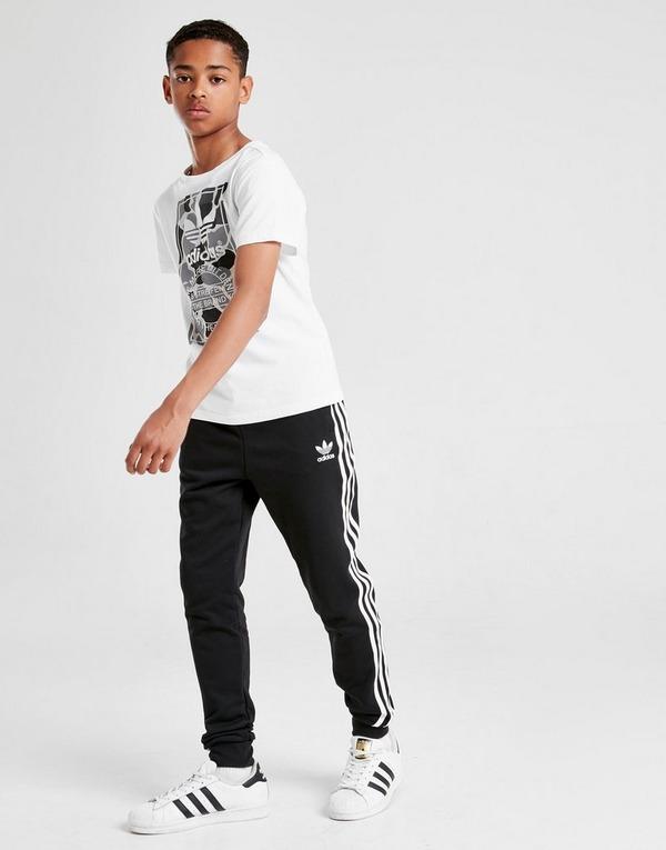 Buy Black adidas Originals adicolor 3 Stripes Track Pants