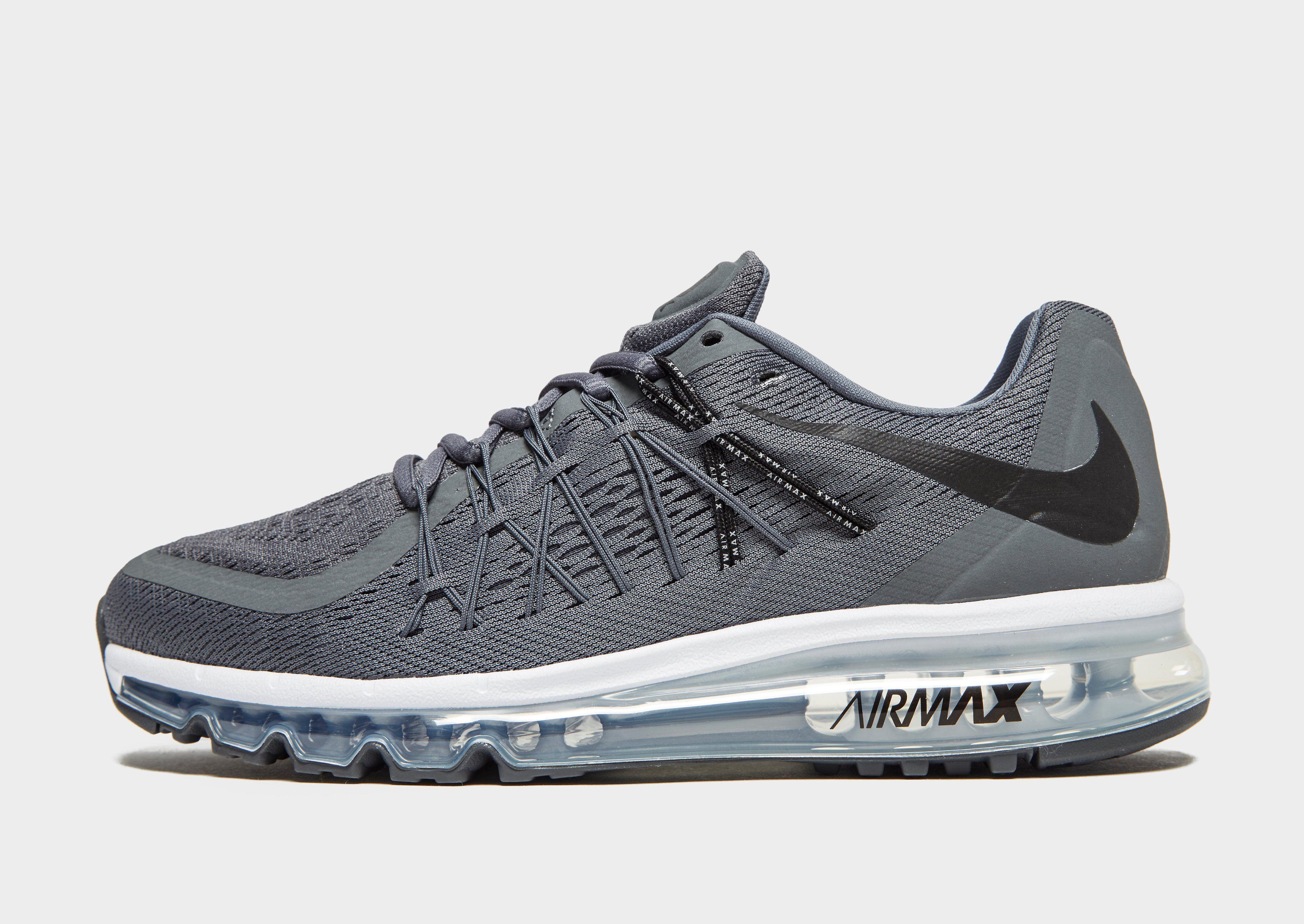 Nieuwe Nike Air Max 2015 II Gray White Men Shoes Met Grote