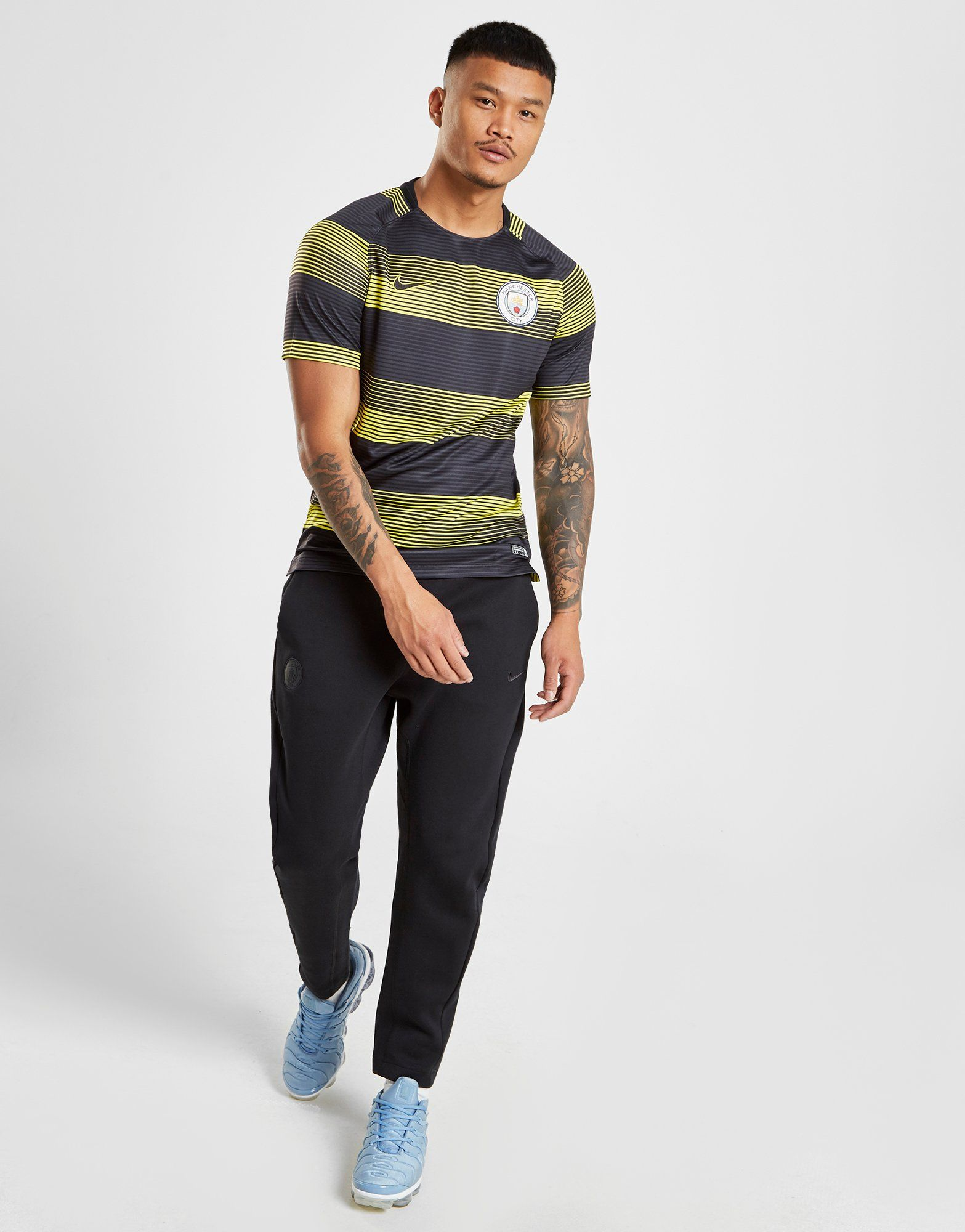 NIKE Manchester City FC Dri-FIT Squad Men's Short-Sleeve Football Top