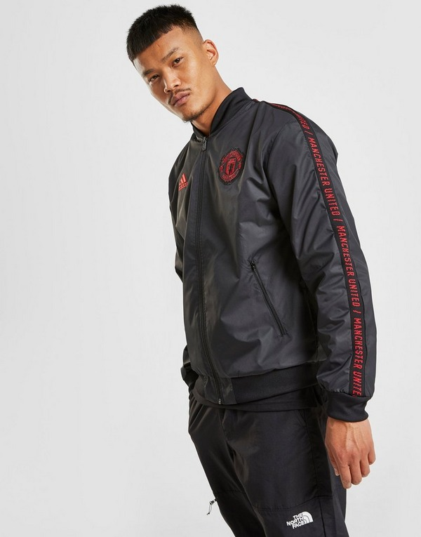 2019 2020 Man Utd Adidas ZNE 3,0 Anthem takki (musta
