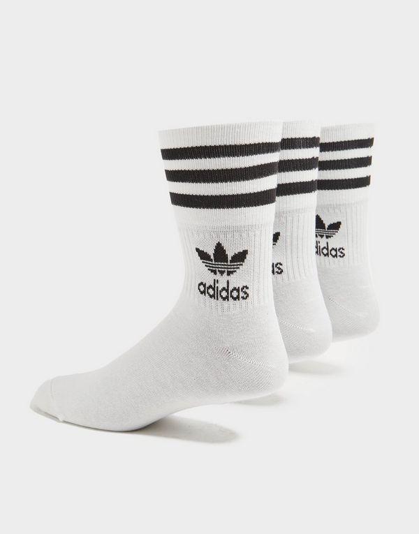 adidas Originals 3 Pack Solid Crew Socks