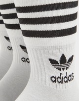 adidas Originals 3 Pack Solid Mid Crew Socks