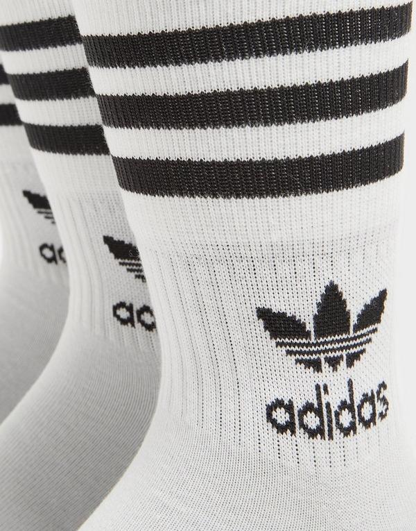 adidas Originals 3 Pack Solid Mid Crew Socks