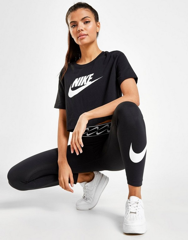 Nike Essential Futura Cropattu T-Paita Naiset