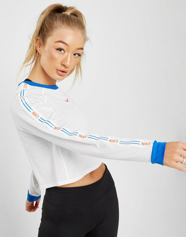 7ac799fe36b NIKE Nike Women's Floral Cropped Running Top | JD Sports