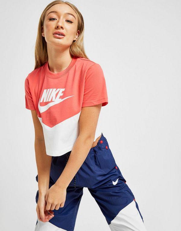 47c46c75 Nike Sportswear Heritage Colour Block Crop T-Shirt | JD Sports