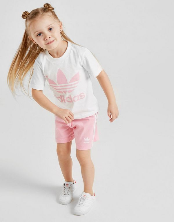 c91ec7b2 adidas Originals Girls' Trefoil T-Shirt/Shorts Set Infant | JD Sports