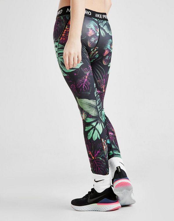 209772ce5afa5f NIKE Nike Pro Older Kids' (Girls') Printed Floral Tights   JD Sports