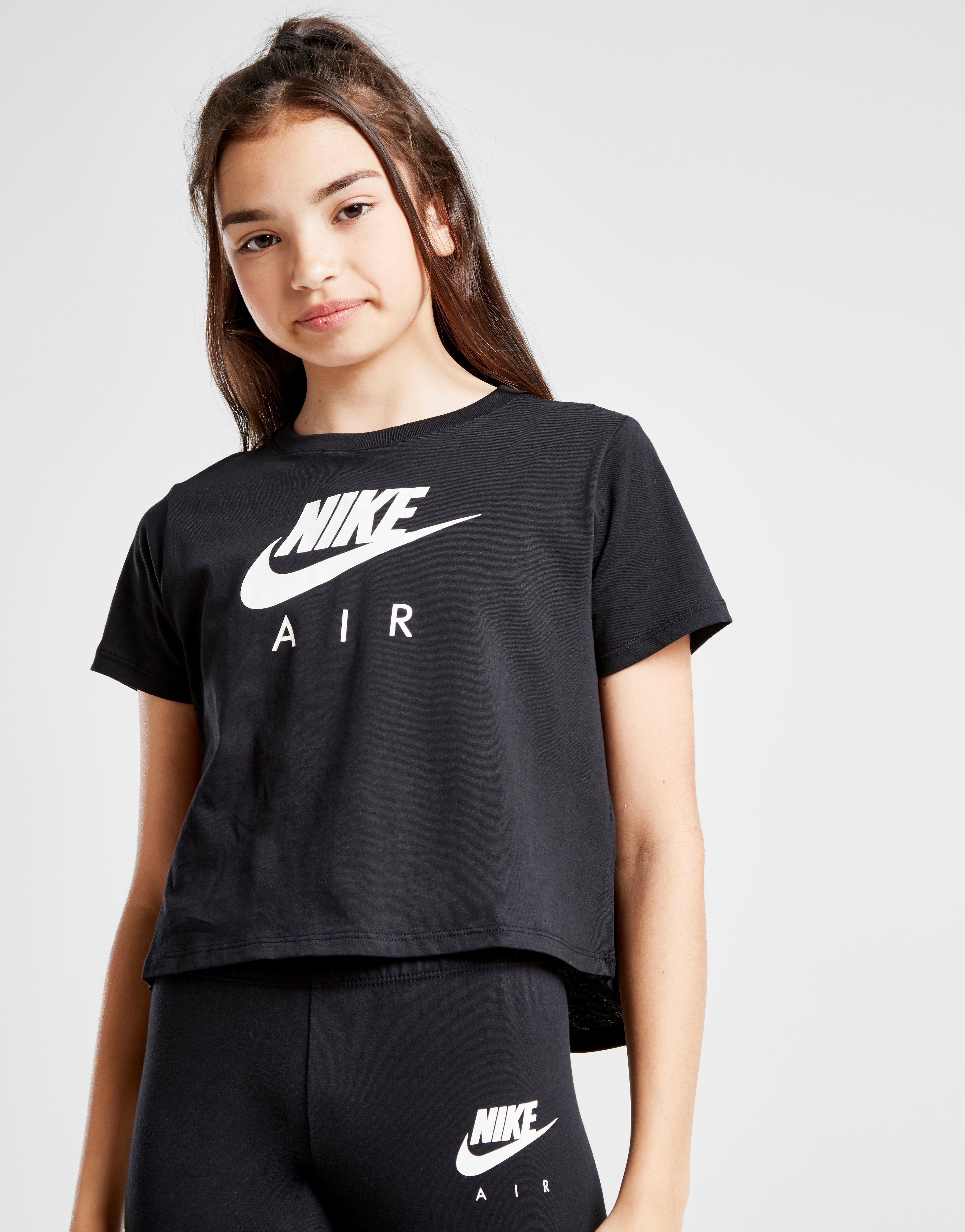 Acheter Black Nike T shirt Air Crop Fille Junior