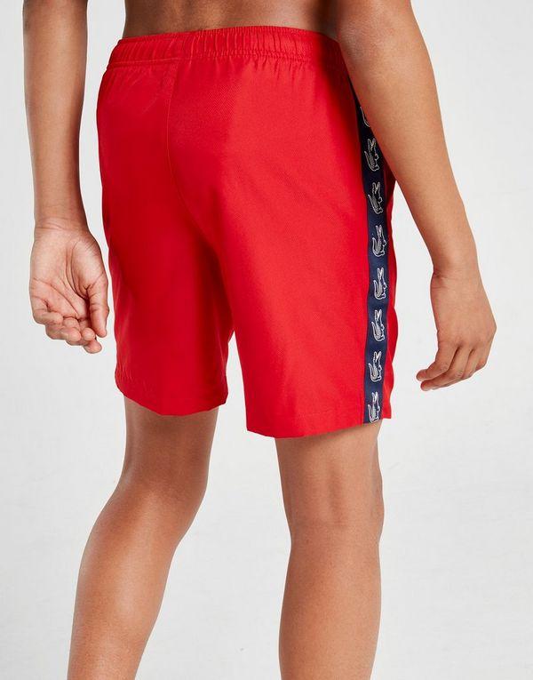 be8687fad2 Lacoste Woven Tape Swim Shorts Junior | JD Sports