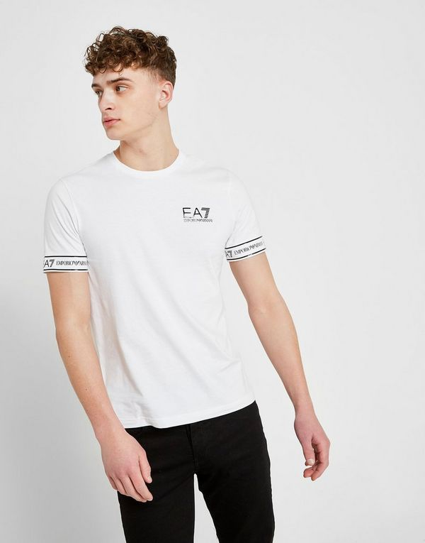 fd2f74964 Emporio Armani EA7 Short Sleeve Tape T-Shirt | JD Sports
