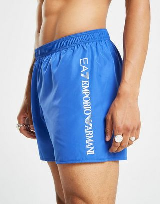 berühmte Designermarke hohe Qualitätsgarantie tolle Passform Emporio Armani EA7 Logo Badehose Herren   JD Sports