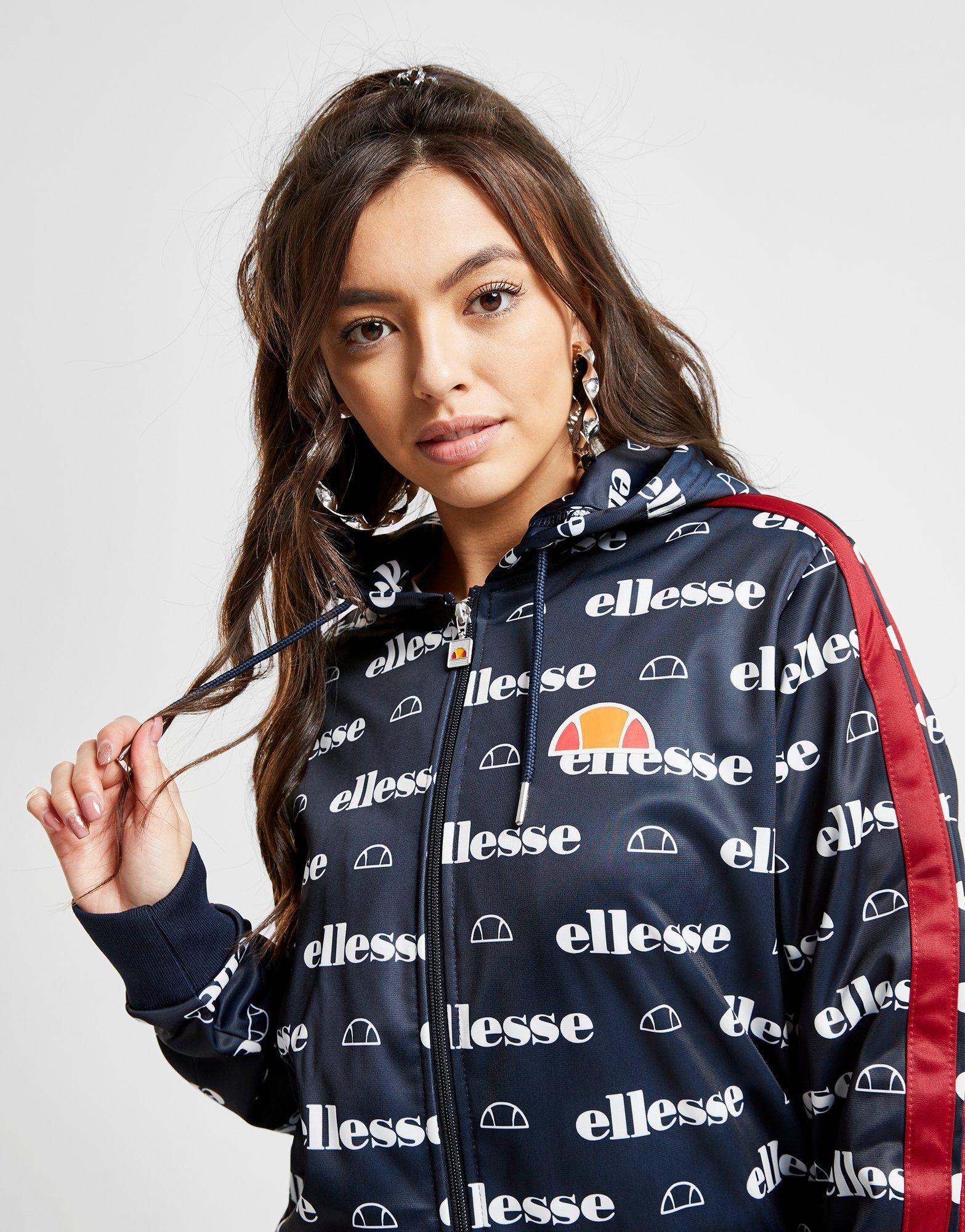 Ellesse Anne-Marie All Over Print Stripe Full Zip Hoodie