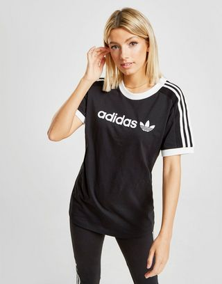 adidas Originals 3 Stripes Linear T Shirt Dames | JD Sports