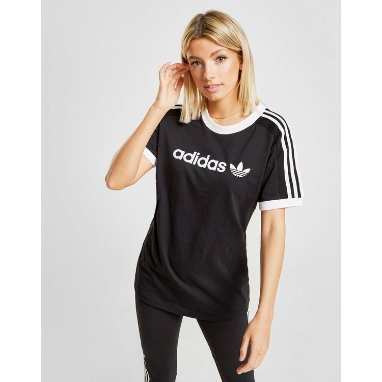 adidas Originals 3-Stripes Linear T-Shirt Dames