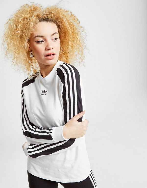 8ddd3e7cb2a adidas Originals 3-Stripes Panel Long Sleeve T-Shirt | JD Sports