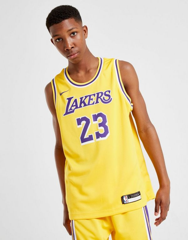 68075c486 Nike NBA Los Angeles Lakers James  23 Jersey Junior