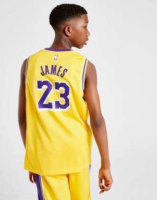 timeless design bb3d8 68a6e Nike NBA Los Angeles Lakers James #23 Jersey Junior | JD Sports