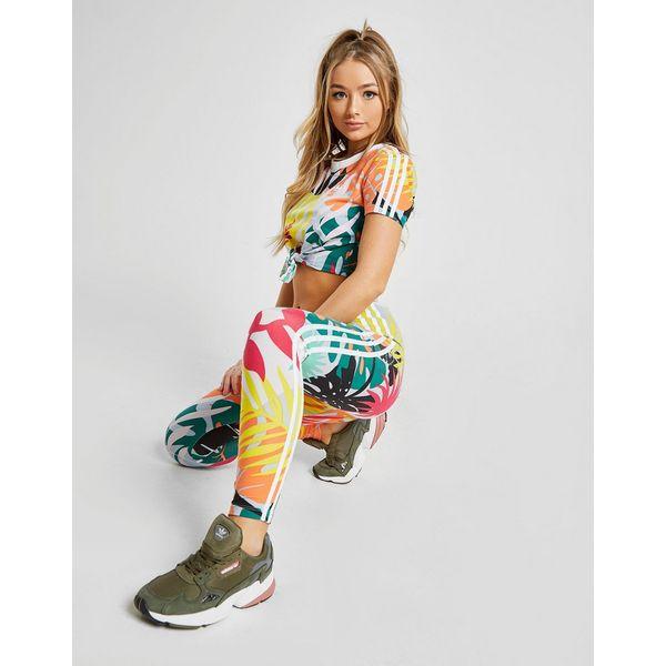 adidas Originals Tropical All Over Print Tie T-Shirt