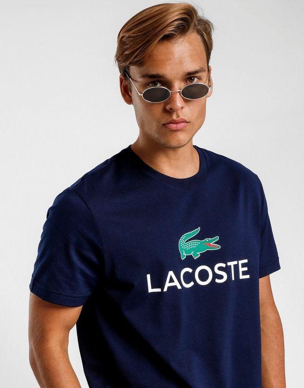 97e38e0fe LACOSTE Crew Neck Large Logo Short Sleeve T-Shirt | JD Sports