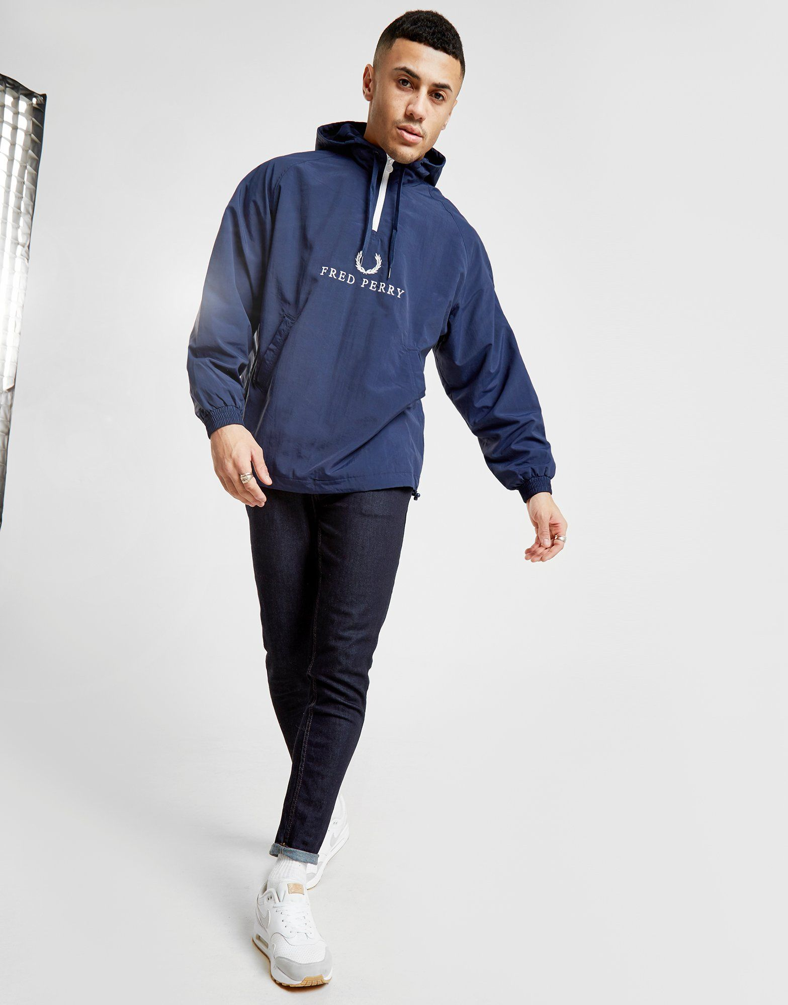 Fred Perry Embroidered 1/2 Zip Jacket