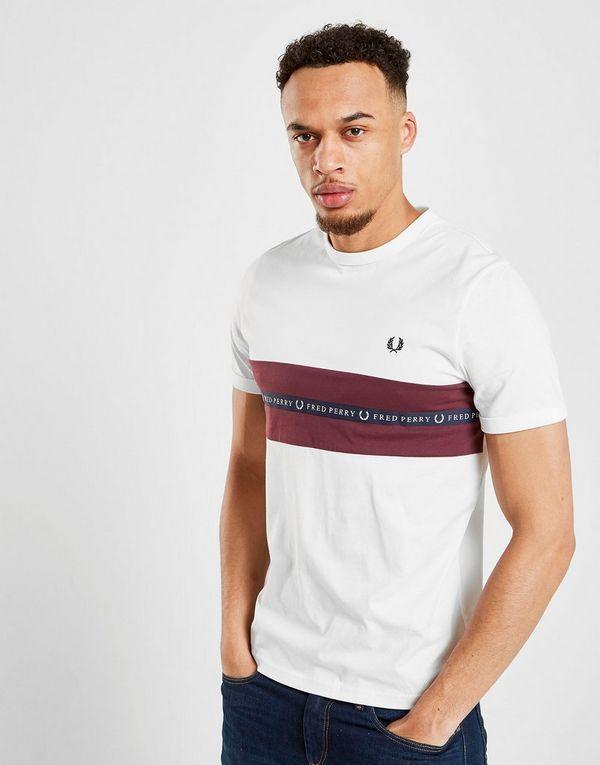 fd22e1884 Fred Perry Sports Tape T-Shirt | JD Sports