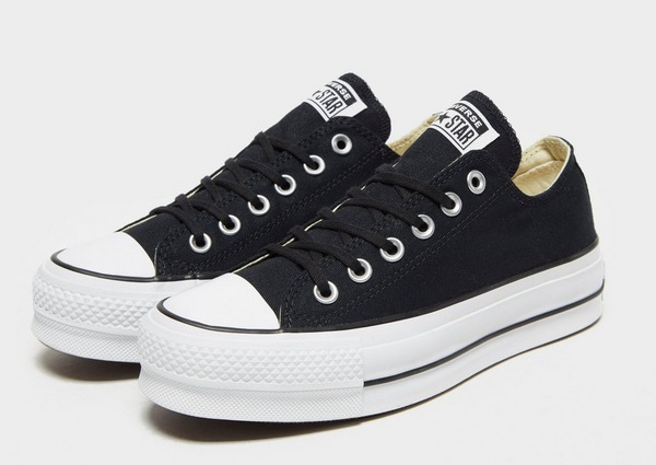 Acquista Converse All Star Lift Ox Platform Donna in Nero