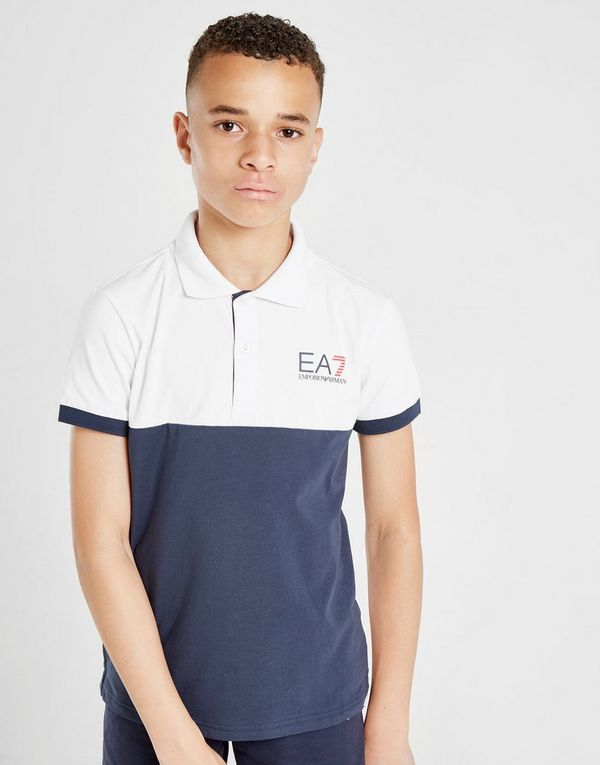 e04847f3e5 Emporio Armani EA7 Colour Block Polo Shirt Junior | JD Sports
