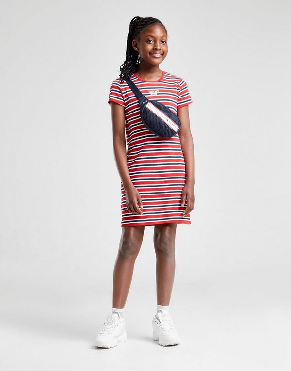 659170a0 Tommy Hilfiger Girls' Stripe Logo T-Shirt Dress Junior | JD Sports