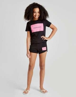 Calvin Klein Girls' Box Logo Shorts Junior