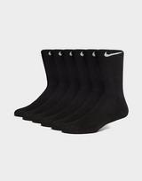 Nike 6 Paires de Chaussettes Rembourrées Crew