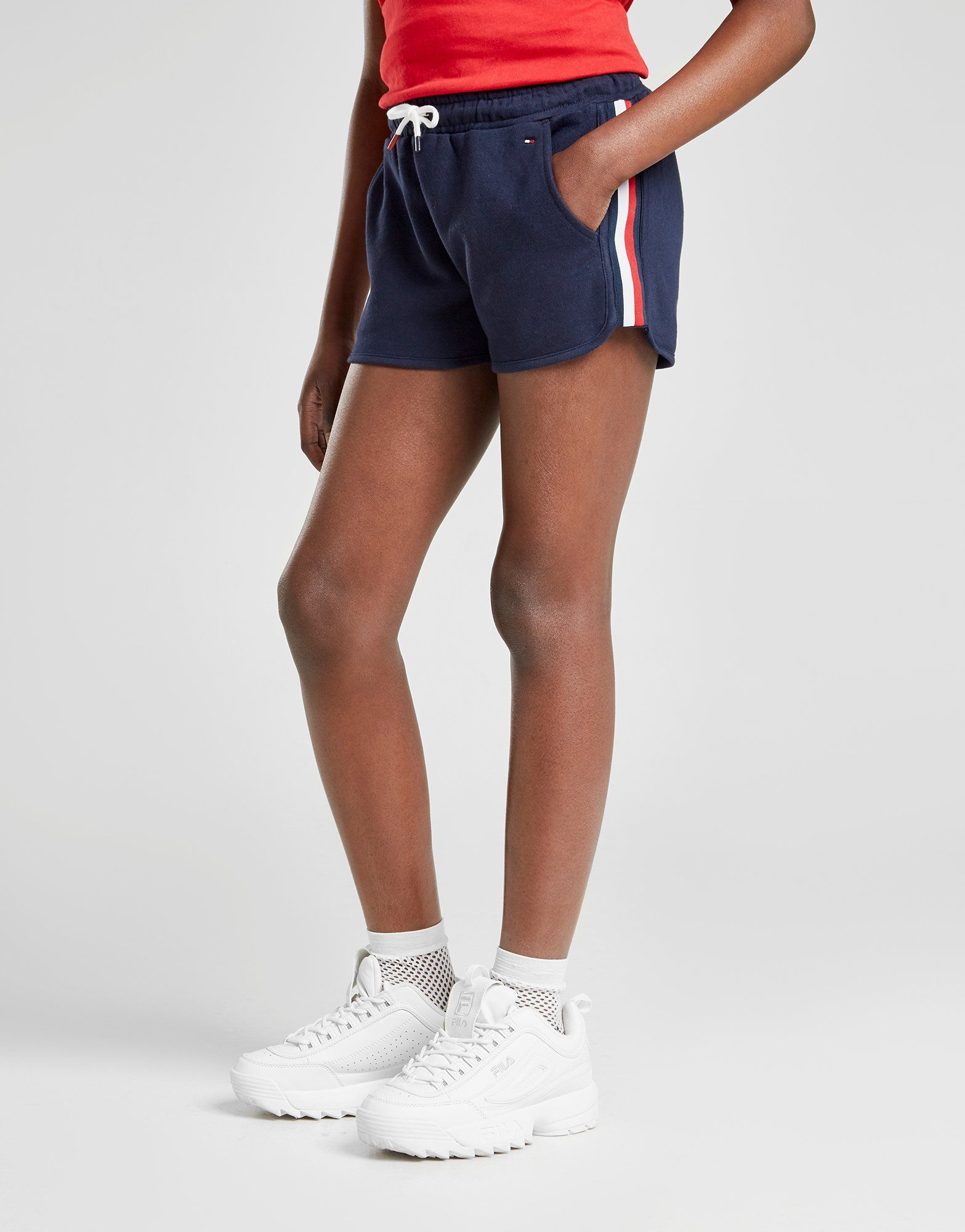 Tommy Hilfiger Girls' Tape Shorts Junior by Tommy Hilfiger